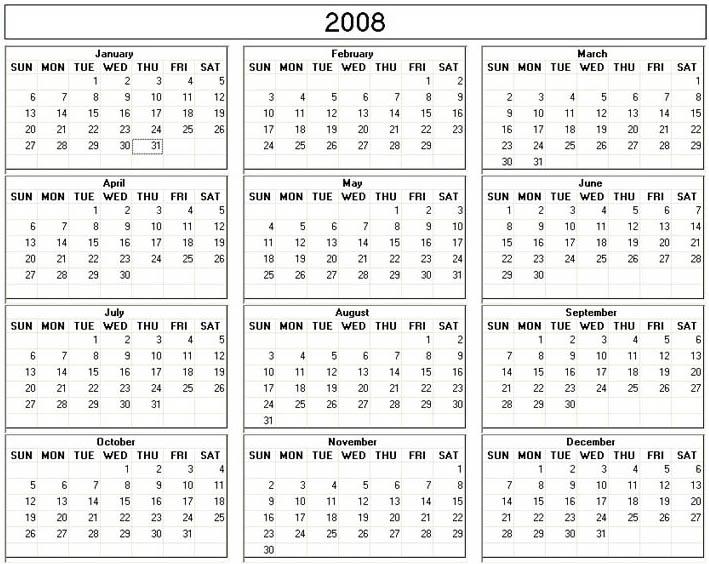 free porn calendar 2008